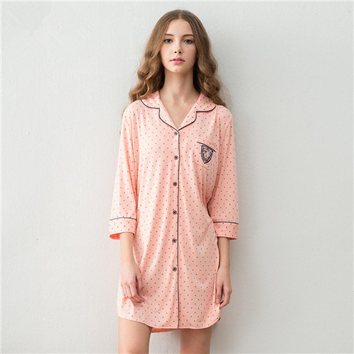 Owl pajamas women promotion shop for promotional owl for Long sleep shirts cotton