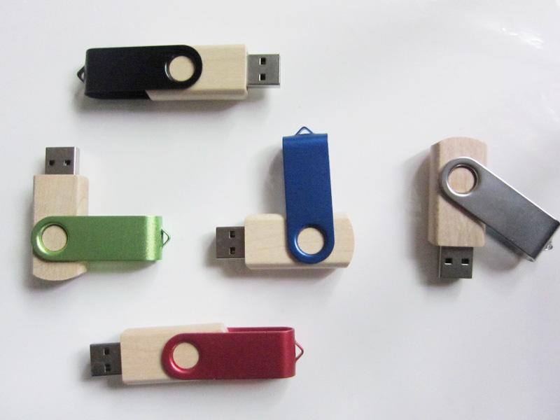 Swivel Wooden USB Flash Drive Real Capacity 1GB/2GB/4GB/8GB/16GB/32GB/64GB USB Stick With Free Shipping(China (Mainland))