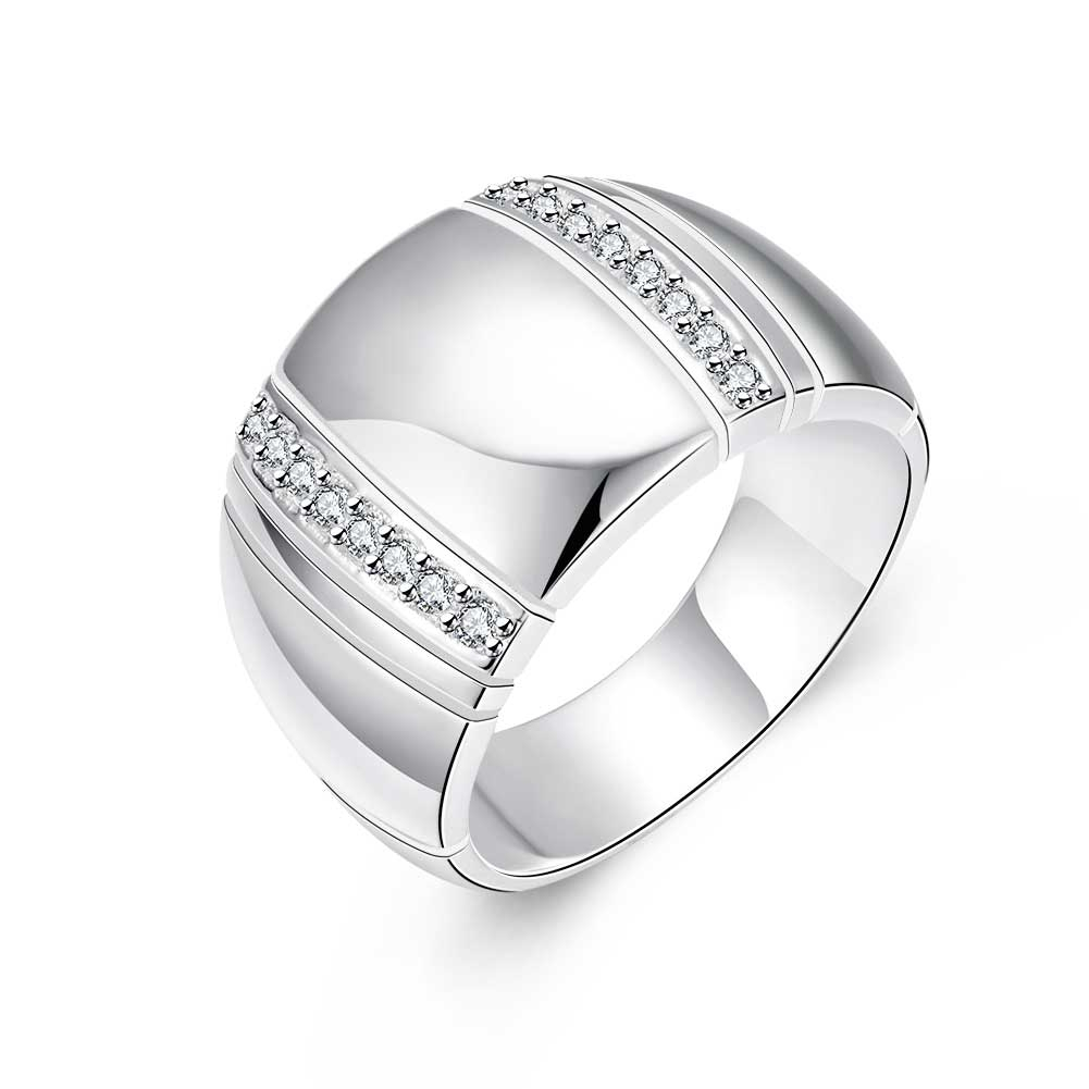 real 925 sterling silver lover s ring cz