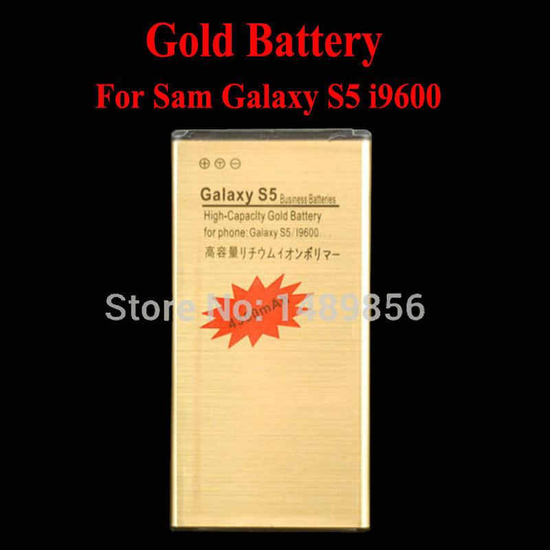 High Capacity 4350mAh Replacement BG900BBC Gold Li-ion Battery Samsung Galaxy S5 i9600 SM-900,No NFC, - JG Discovery-Battery Factory store