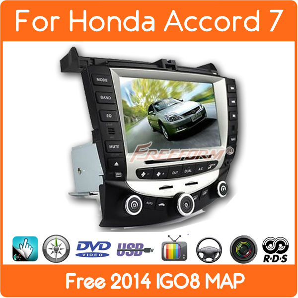 car dvd player gps navigation for honda accord 7 2003-2007 EURO Stereo Radio dual / Single Zone Climate Control(China (Mainland))