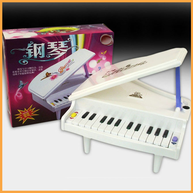 Kids Small Piano Educational Toy Musical Instrument For Girl&Boy White Popular Developmental Music Toys Retail Package(China (Mainland))