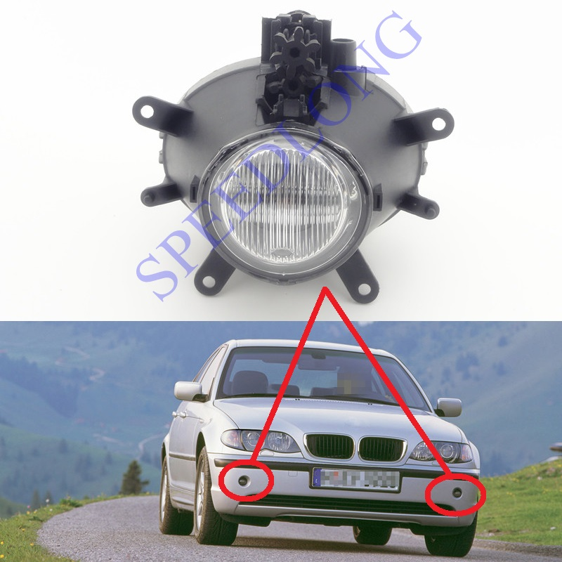 1 PC RH=LH Witout bulb front light fog lamp for BMW 3 Series E46 New Model 2001-2004(China (Mainland))