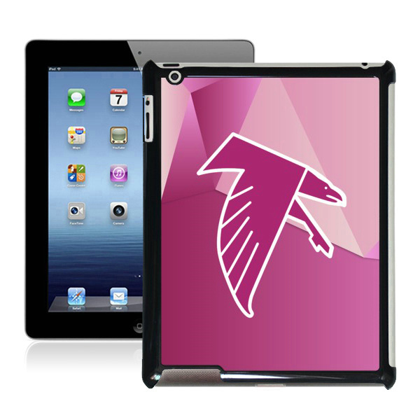 Wholesale hard plastic protectors tablet PC back cases covers DIY image printable NFL Atlanta Falcons-07 for Apple iPad 2 3 4(China (Mainland))