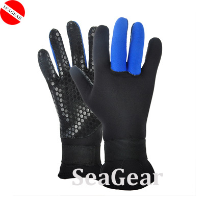 Free shippping ! 3.5mm neoprene gloves diving finger anti skid gloves super stretch gloves(China (Mainland))