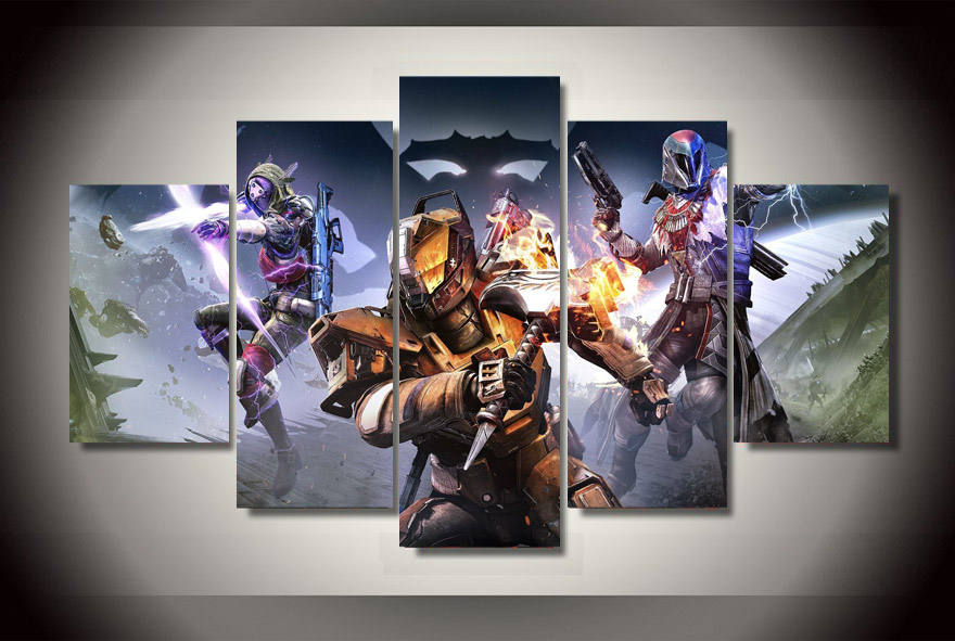 5Pcs HD Printed Destiny Game Poster Home Decor Wall