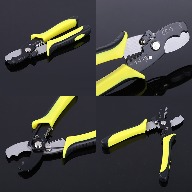 "7"" Multifunctional Electric Cable Cutter Wire Stripper Plier High Quality Wire Cutters DIY Hand Crimping Tool(China (Mainland))"