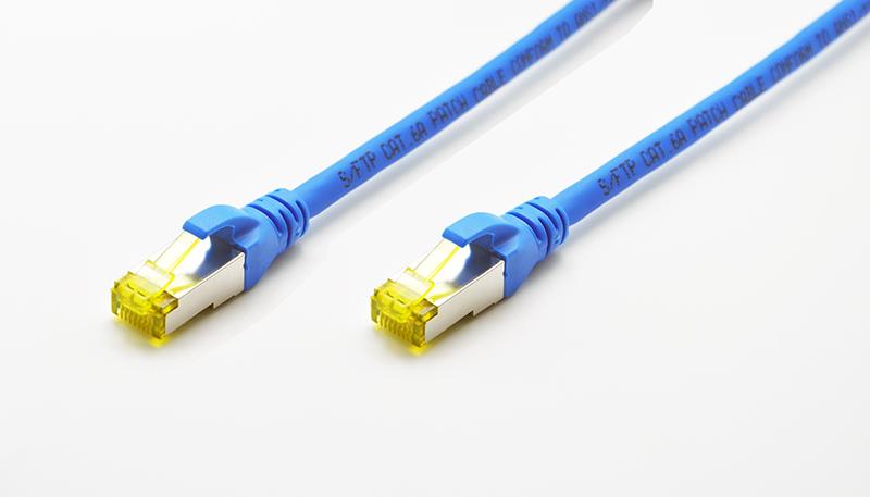 (3pcs/pack) 10 Gigabit Ethernet CAT6A SFTP Network Patch Cable LSOH/LSZH (Blue Color) - 0.5M/1M/2M/3M/5M(China (Mainland))