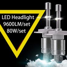 Super Bright R3 9600lm XHP-50 Car LED Headlight Kit H1 H3 H4 H7 H9 H11 9004 HB1 9005 HB3 9006 HB4 9007 HB5 9012 H13 9008 - HochiTech Store store
