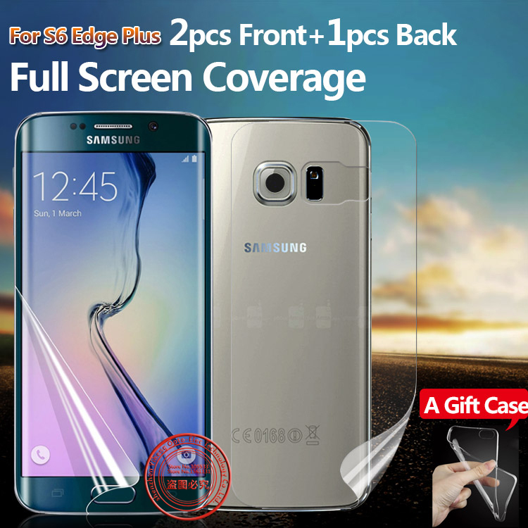 Full Screen Protector for Samsung Galaxy S6 Edge Plus S7 Edge Front And Back Clear Protective TPU Film 2F+1B +Case(China (Mainland))