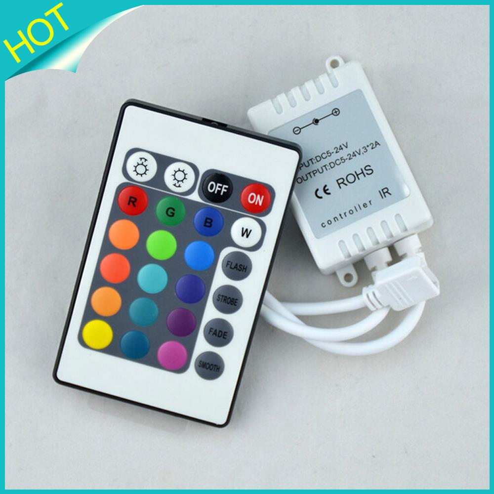 24 Keys IR Remote RGB LED Controller DC12V for SMD3528 5050 5730 5630 3014 RGB LED Strip lights Mini Controller(China (Mainland))