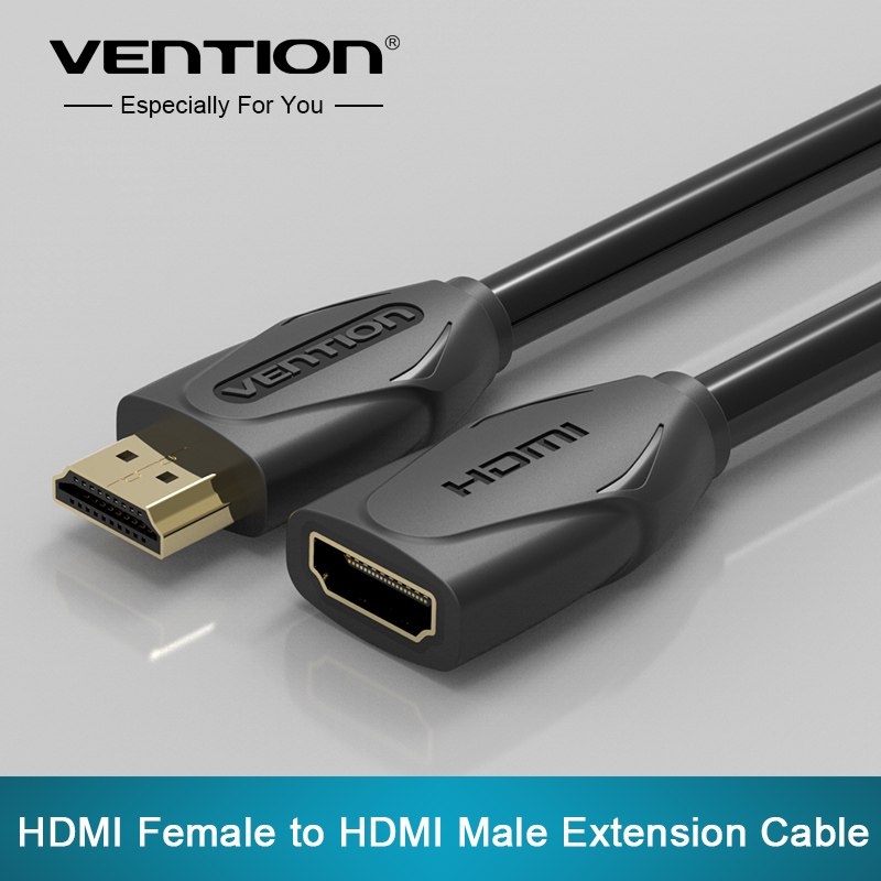 Vention HDMI Extension Cable male to female 1M/2M/3M/5M HDMI 4K 3D 1.4v HDMI Extended Cable for HD TV LCD Laptop PS3 Projector(China (Mainland))