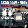 12V 55W xenon H4 high low Bixenon lamp kit HB2 9003 9004 9007 9008 H13 high