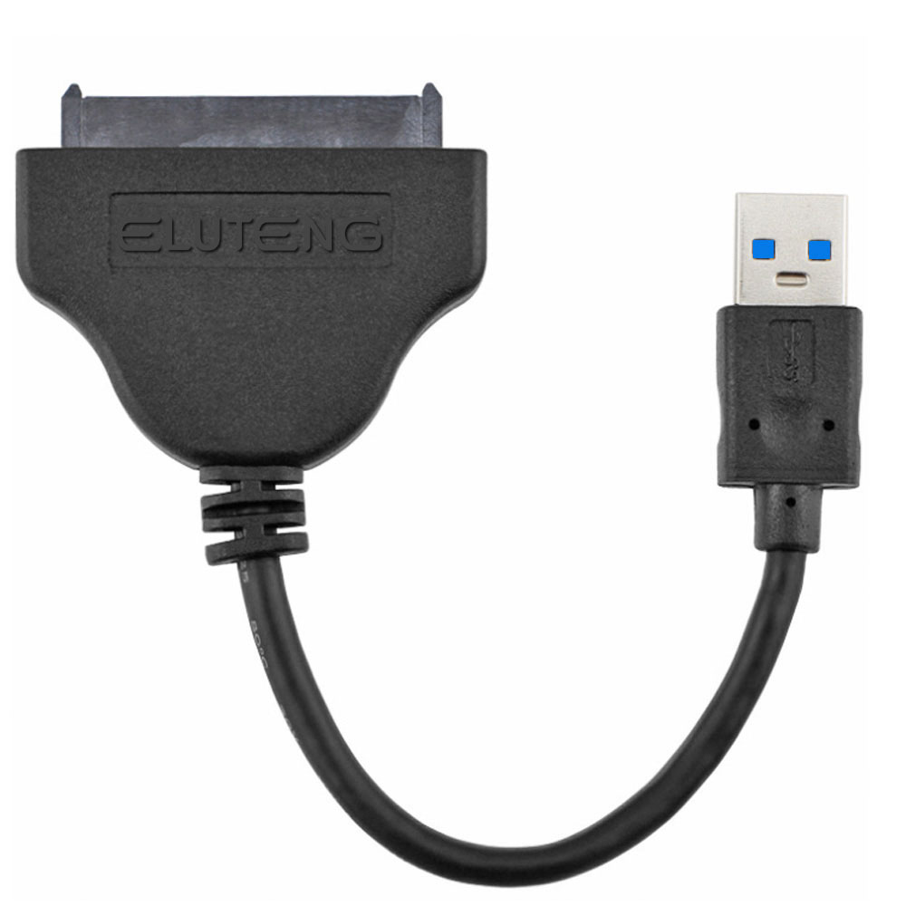 ELUTENG USB 3.0 to SATA Cable Adapter 5Gbps External SATAIII Short Power Converter for 2.5 Inch SSD / HDD Solid State Drive 16cm(China (Mainland))
