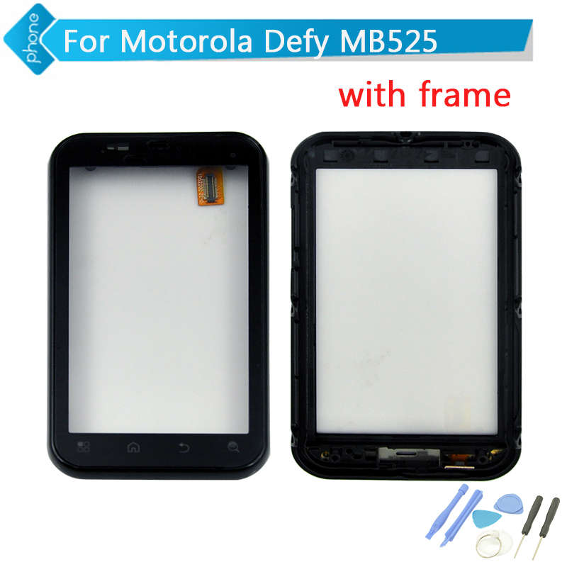 For Motorola Defy MB525 Touch Screen Digitizer Glass with FRAME + Tools(China (Mainland))
