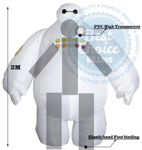 2015 NEW Big Hero 6 Inflatable Baymax fancy suit costume cloth Baymax Zentai Costume Adult 2m Large mascot Cosplay
