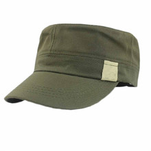 Delicate Summer Style Unisex Flat Roof Military Hat Bush Hat Solid Baseball Field Cap Hot Selling