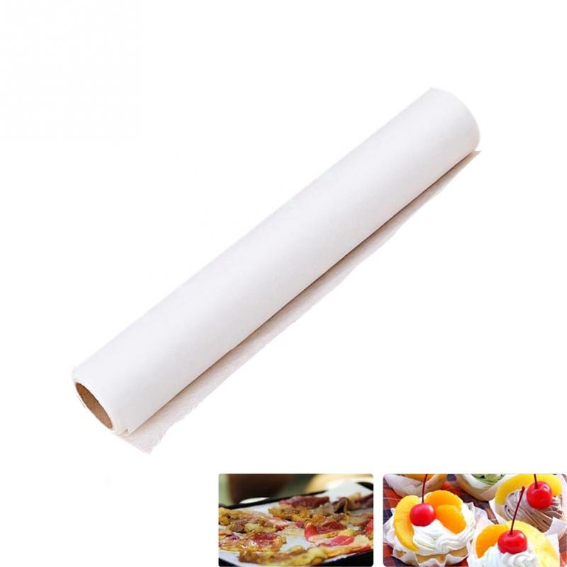 New High Quality 5M Parchment Paper Silicone Baking Mat Pad Roll Wax Non Stick Kitchen White -PG(China (Mainland))