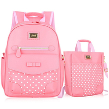 Kid School Backpack 2016New Lovely ot Sale Waterproof Fair Maiden Boy Children Primary School Students Girl High-quality PU Z407(China (Mainland))