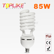220-250V E27 TRI-COLOR HALF SPIRAL-17MM-85W CFL spiral-type compact fluorescent lamp energy saving lamp 8,000HRS bulb(China (Mainland))