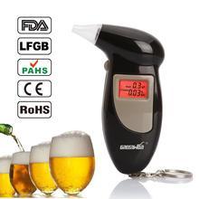 Promotion Professional Key Chain Police Digital Breath Alcohol Tester Breathalyzer Analyzer Detector Audio Alert  Free Shipping(China (Mainland))