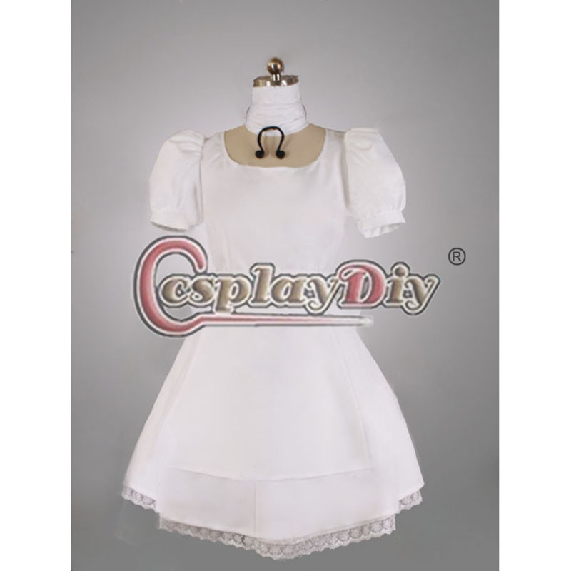 Alice Madness Returns Hysteria Cosplay Dress Costume Adult Women Carnival Party White Dress Custom Made D0617Одежда и ак�е��уары<br><br><br>Aliexpress