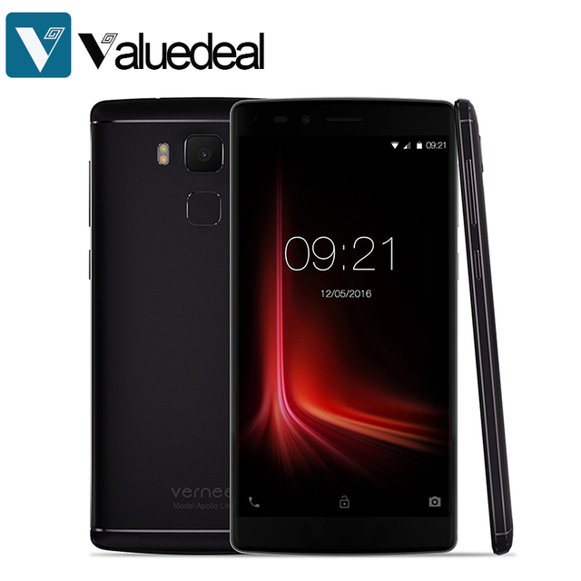 Original Vernee Apollo Lite 5.5 inch Helio X20 MT6797 Deca Core 4G LTE Android 6.0 4GB+32GB 16.0MP Type-C Touch ID Smartphone