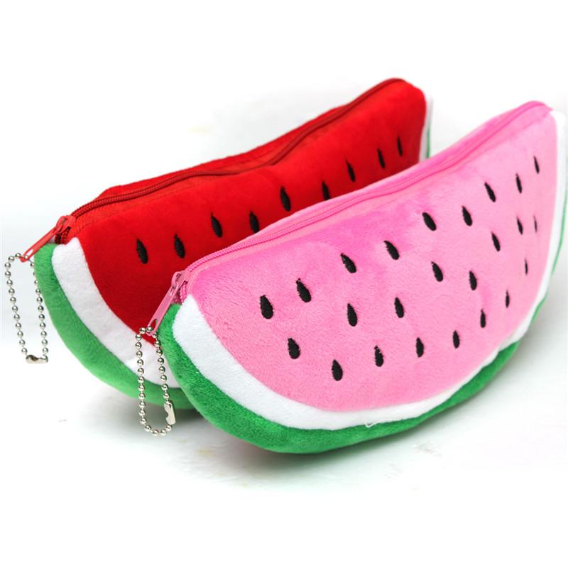 Newest Practical Big Volume Watermelon Fruit Kids Pen Pencil Bag Case Gift Cosmetics Purse Wallet Holder Pouch School Supplies(China (Mainland))