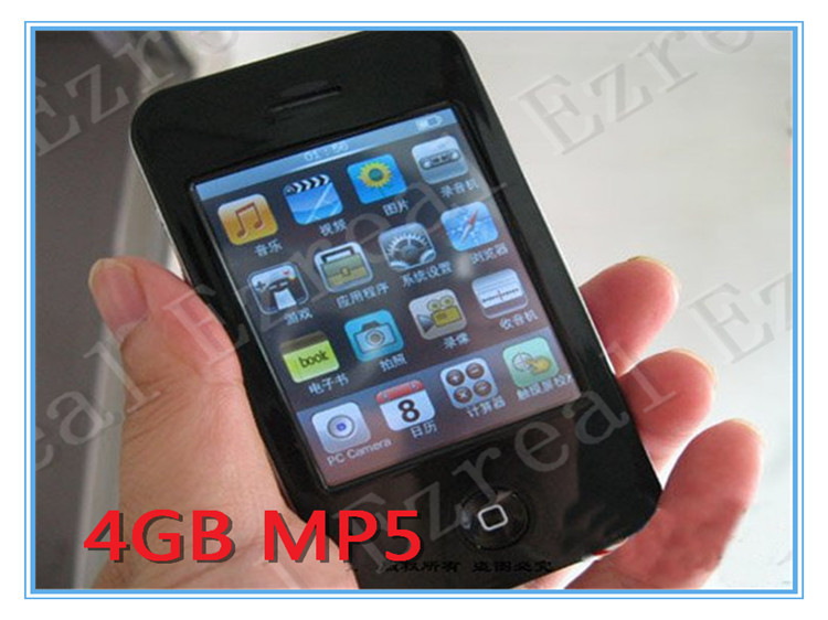 """FULL SET 500PCS/LOT 4.3"""" Touch screen MP3 Playe MP4 Player FM Radio TV OUT REAL 4GB MP5 Player(China (Mainland))"""