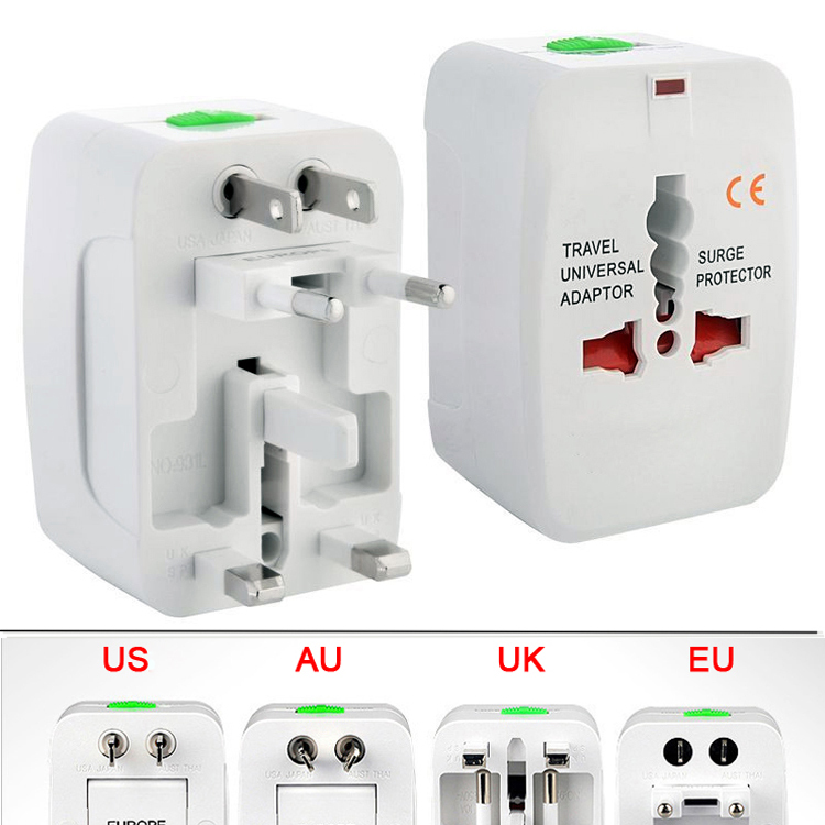 Universal Adapter Plug Socket Converter Universal All in one Travel Electrical Power Adapter Plug US UK AU EU Portable Plugs(China (Mainland))