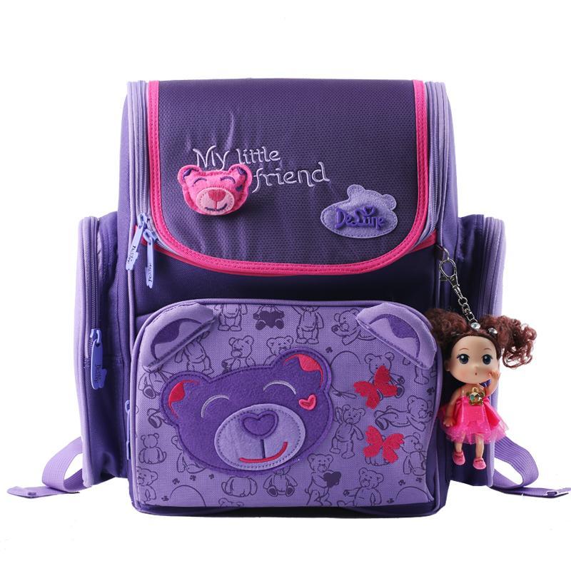 Delune мультики рюкзаки рюкзак школы дети ортопедические школьные принадлежности школьные сумки для девочек детей рюкзак девушки