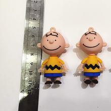 Cores 5 Charlie Urso Dos Desenhos Animados Boneca de Brinquedo de Corda de Couro Keychain Crianças Fofo Meninas Presente de Aniversário(China)