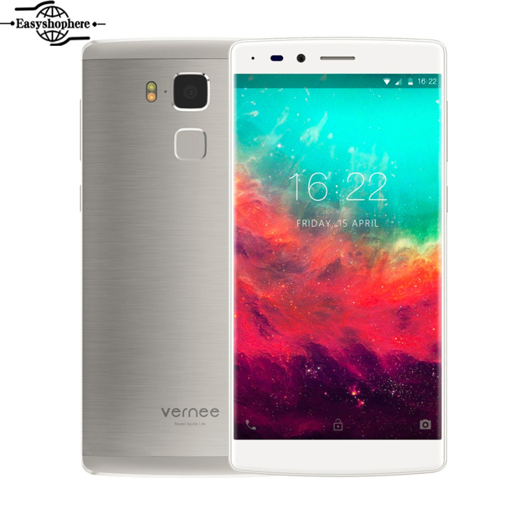 5.5 Inch Original Vernee Apollo Lite Mobile Phone 4GB 32GB 4G LTE 1080P Cell Phone Deca Core MTK6797 Android 6.0 16.0MP Touch ID(China (Mainland))