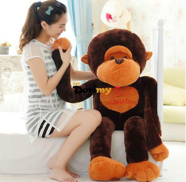 Dorimytrader Funny Item 51'' / 130cm Large Stuffed Plush Animal Monkey Toy, 2 Models and Nice Gift, Free Shipping DY60179(China (Mainland))