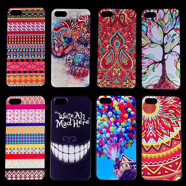 3D Aztec Tribal Sexy Lips Skull Plastic Hard Cases for iPhone 5s back Skin Cover Protective Mobile Phone Bags Cases(Hong Kong)