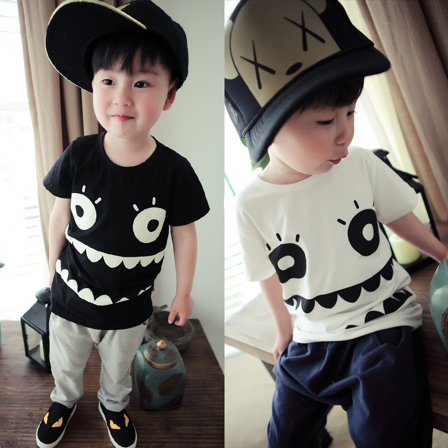 Hot Summer style clothing Monster T-shirt for girls and boys T-shirt Children T-shirt baby children's clothing 2-7 old(China (Mainland))