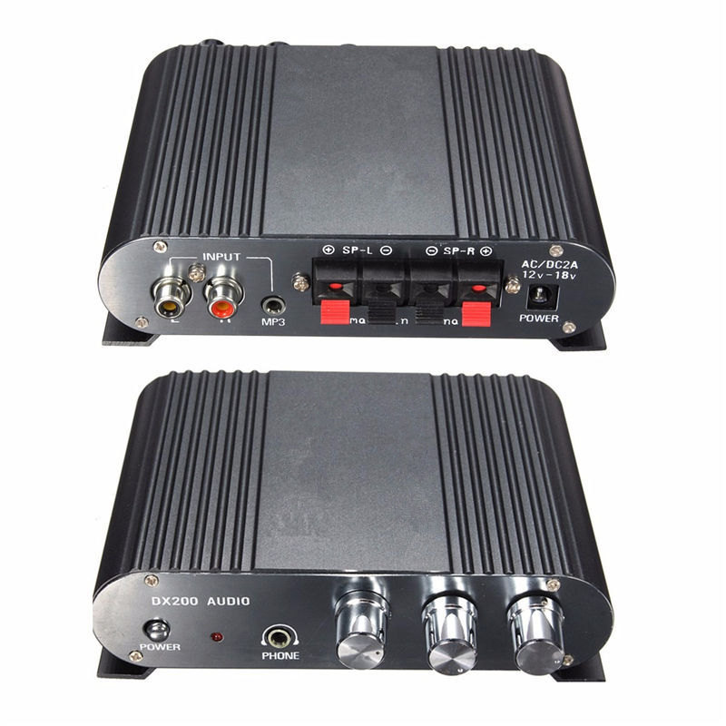 12V Mini Hi-Fi Stereo Amplifier 2.1CH Booster Car Auto Motorcycle Home Audio Stereo Bass Speaker Amplifier(China (Mainland))