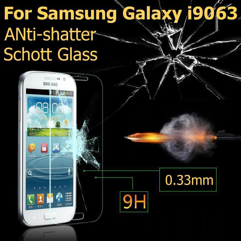 Ultrathin 2.5D For samsung galaxy Grand Neo Duos TV I9063 i9060 Premium Tempered  Glass Anti-shatter Screen Protector guard Film(China (Mainland))