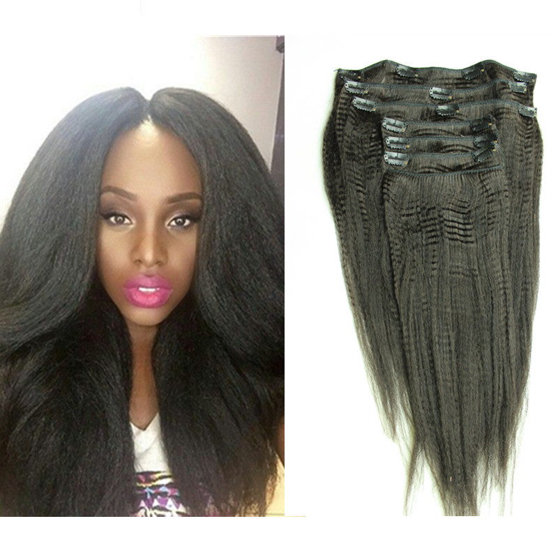Yaki Straight Clip In Hair Extensions 63