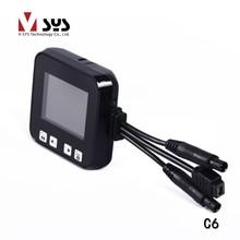 2.0 inch waterproof lens dual camera motorcycle / car camera recorder with gps / touch key(China (Mainland))