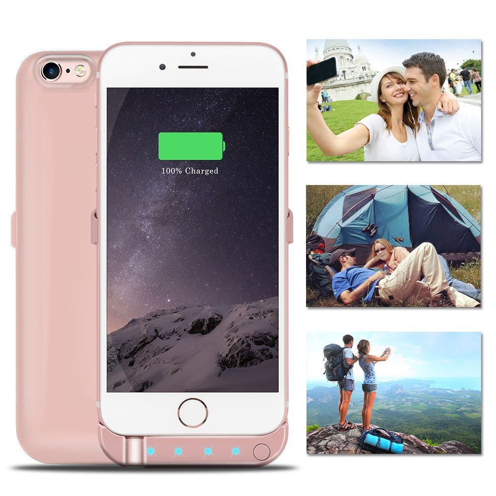 5800mAh Backup External Battery Case Charger Case Power Bank pack shell cover case with 4 led&Stand for iphone 6 6s rechargeable(China (Mainland))
