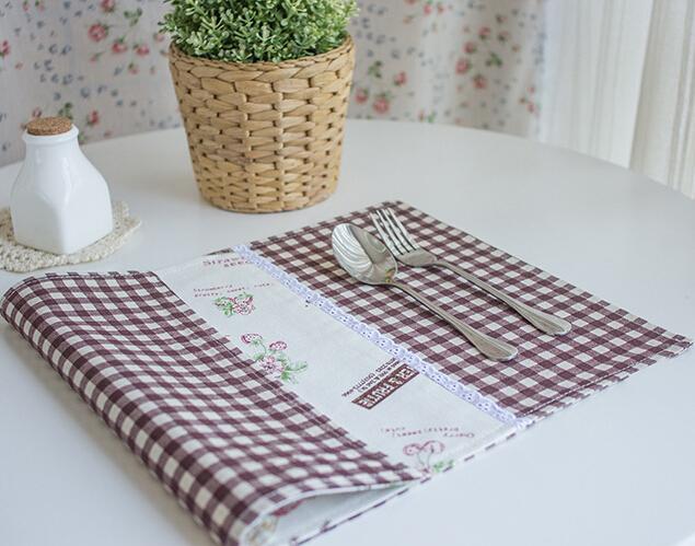 3pcs / set A Fisket a Fasket mianma Korean table mat Cloth napkin non slip place mat(China (Mainland))