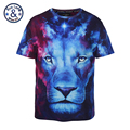 Mr BaoLong brand Plus Size L 3XL Oil painting lion Printed t shirt men high quality