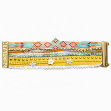 Aloha 2015 Bohemia HIPANEME Bracelet French Yellow Beads DIY Beach Bracelet Brazilian Jewelry Gold Magnet buckle Customizable