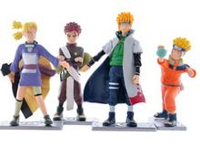 Hot Sale 4Pcs /Lot 12CM PVC Naruto Uzumaki Naruto Shippuden Doll model Toys figure Doll ornaments Animation around