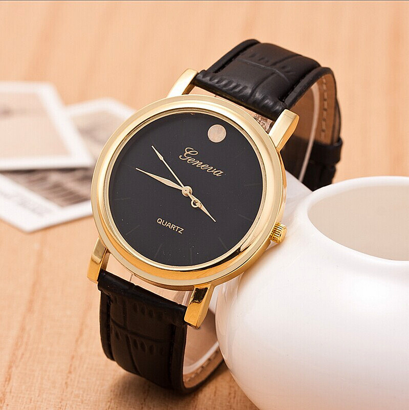 Купить Часы  New GENEVA High Quality Leather Woman Watch Elegant Woman Watch Vintage Fashion Business watch None