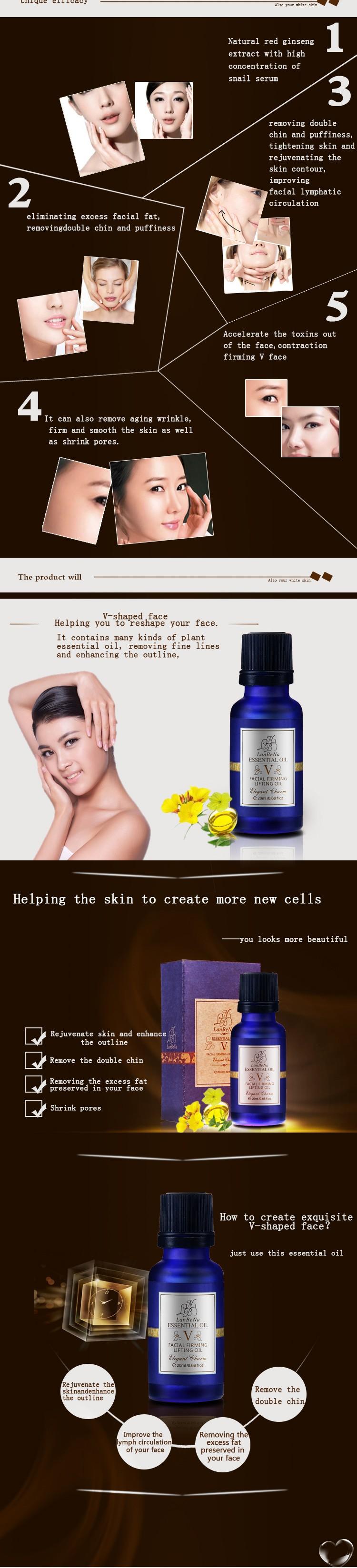 Lanbena 4D лица укрепляющий эфирное масло уход за кожей лица для похудения крем для лица удаление двойной подбородок тонкий потеря веса