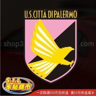 Car stickers reflective car stickers Palermo, Italy, Team logo Team Car Sticker 1127(China (Mainland))