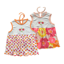 Free Shipping Baby Dresses 1-2 years Girls Infant Cotton Clothing Dress Summer Clothes Printed Embroidery Girl Kids DressaTST002(China (Mainland))