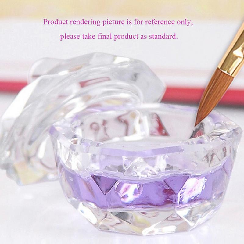 3PCS Nail Tools Crystal Glass Dappen Dish Cup Nail Art Acrylic Liquid makeup Powder Nail styling tool nail dust collector(China (Mainland))